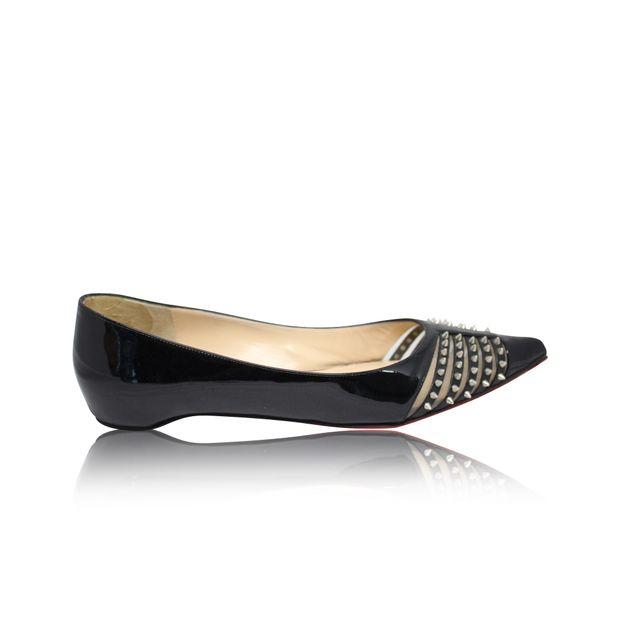 wholesale dealer d0a7a 4adc4 Mini Spikes Black Flats