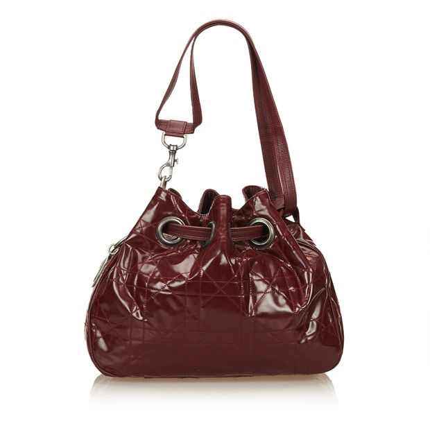 66db096be0a Leather Cannage Bucket Bag by DIOR | StyleTribute.com