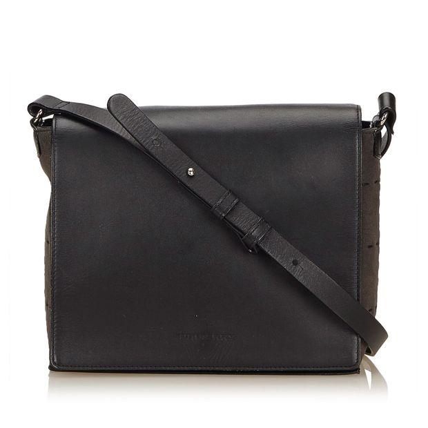 c26938b1c436 Leather Shoulder Bag by BURBERRY