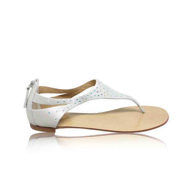 bcc975550e6ed Back Zip Crystal Sandals by GIUSEPPE ZANOTTI | StyleTribute.com