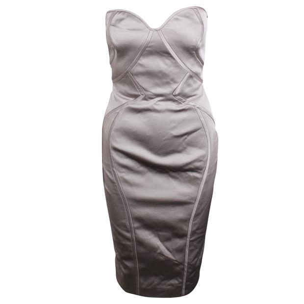 be181f600299 Strapless Midi Dress by ZAC POSEN | StyleTribute.com