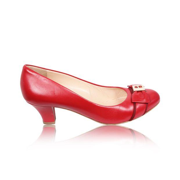 70594055633c BALLY Red Carmine Nappa Shoes BALLY Red Carmine Nappa Shoes zoomed
