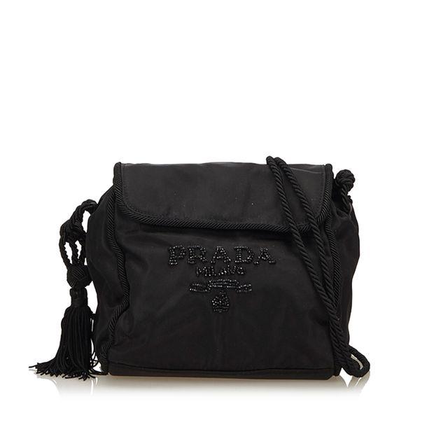 38ea00d08be642 Beaded Nylon Crossbody Bag by PRADA | StyleTribute.com