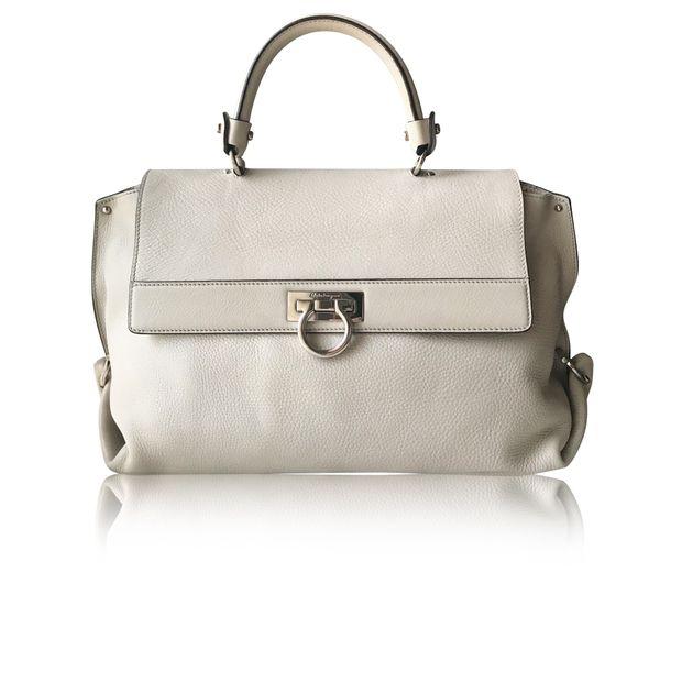 8853a86d5e SALVATORE FERRAGAMO Salvatore Ferragamo Medium Sofia Pebbled Leather ...
