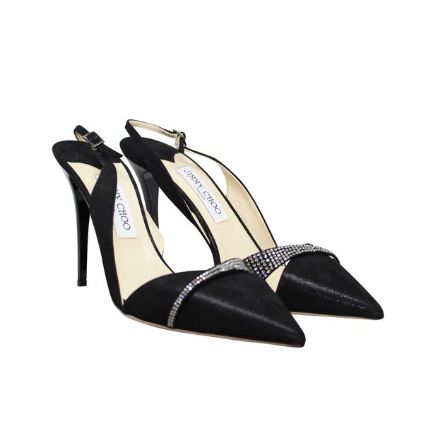 49b9fdc6948ff Black Satin kitten heels by JIMMY CHOO | StyleTribute.com