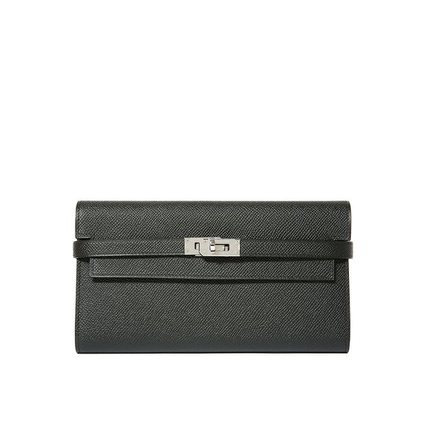 0812d7a9be Kelly Wallet Epsom Leather 89 Black Color PHW by HERMÈS ...