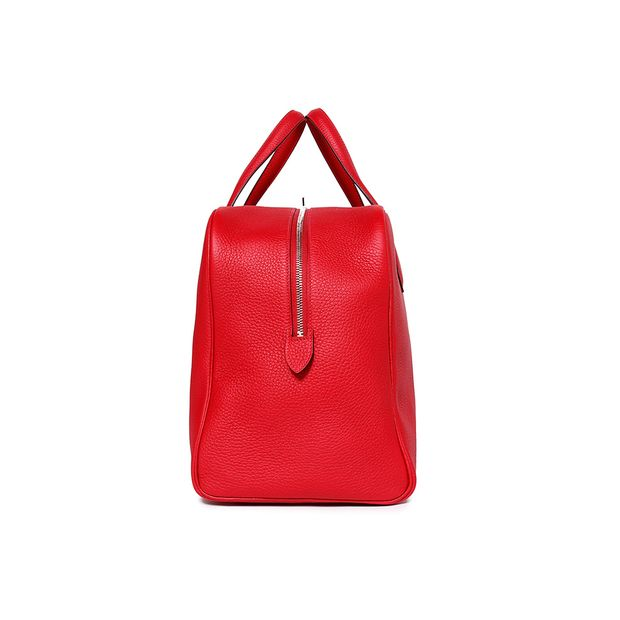 61f4968c4030 HERMÈS Tote Bag Victoria II 43 T.Clemence Leather Red 1 thumbnail