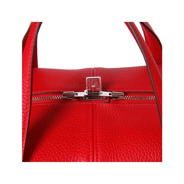 e32245f77a16 HERMÈS Tote Bag Victoria II 43 T.Clemence Leather Red 5 thumbnail