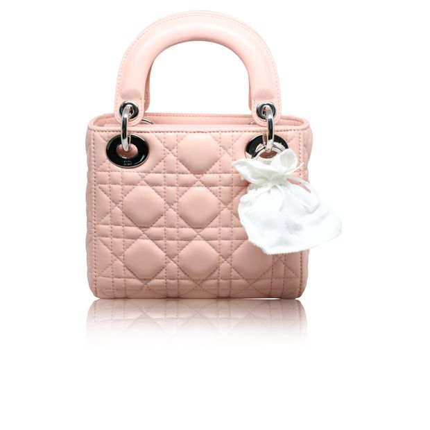 64007918d9 Mini 'Lady Dior' Bag In Pale Pink by DIOR | StyleTribute.com