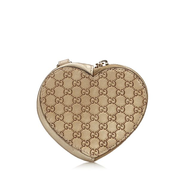 0b7dc1a90 Guccissima Heart Coin Pouch by GUCCI | StyleTribute.com