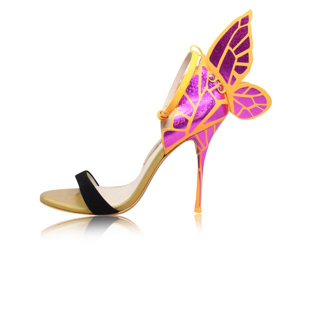 f22b9cb0dc044 SOPHIA WEBSTER Fuchsia Orange Chiara Butterfly Wing Sandal 0 thumbnail