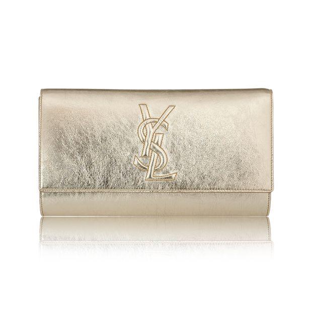 08dfcb2c552d7 YSL Glam Gold Clutch by YVES SAINT LAURENT
