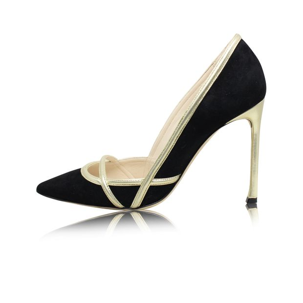 8ddc5c31ca7 Suede and Satin Pointed Toe Pumps by DIOR