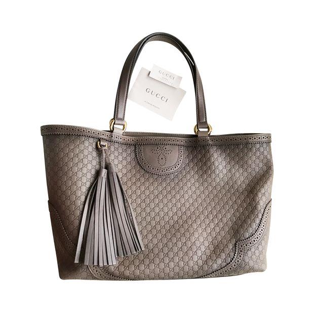 df5bd7eb0286 Gucci Duilio Brogue Microguccisima Leather Tote by GUCCI ...