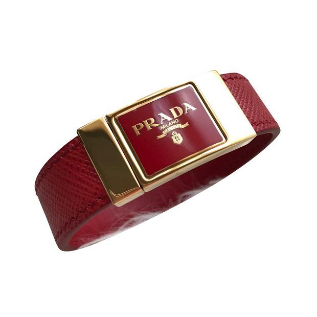 new product c54ce a62da Prada Saffiano Bracciali Bracelet