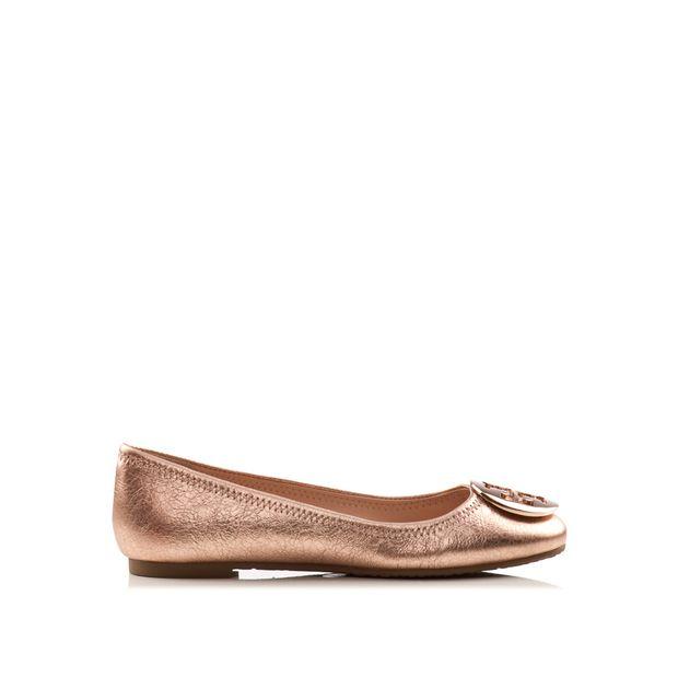 208d78d238e130 TORY BURCH Rose Gold Vulcano Reva Ballet Flats 0 thumbnail