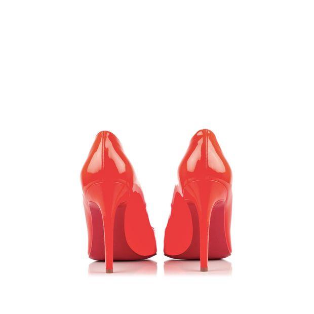 buy popular 25f03 63d2c Orange Patent Pigalle 100 Fluo Chic Pumps