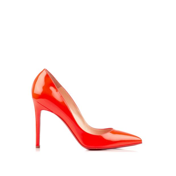 db89426fe1e CHRISTIAN LOUBOUTIN Orange Patent Pigalle 100 Fluo Chic Pumps 0 thumbnail