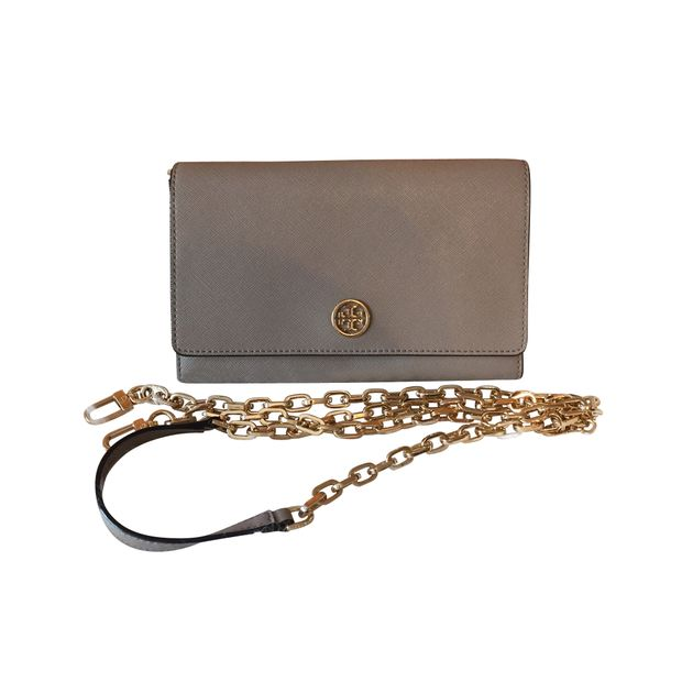 4be18f6dee Tory Burch Robinson Chain Wallet by TORY BURCH   StyleTribute.com