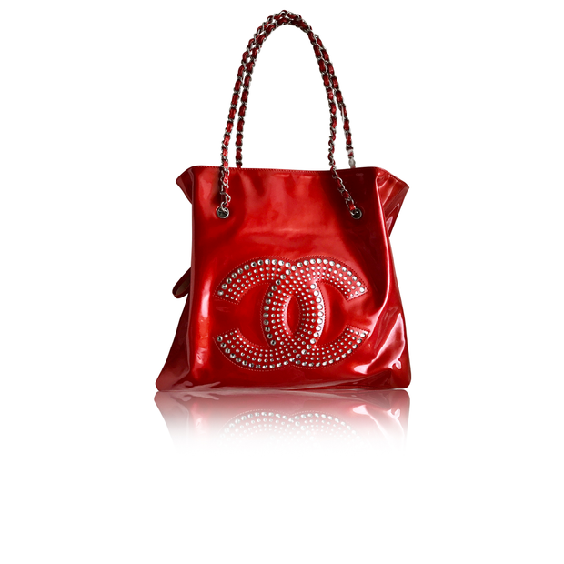 12a1a35294f8 Chanel Bon Bon With Crystal Embellishments Tote by CHANEL ...
