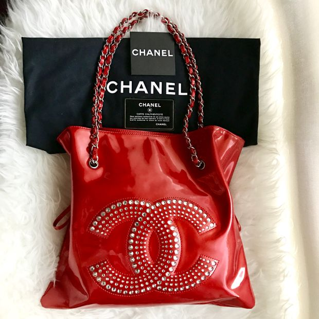 6d22cdc70a1f CHANEL Chanel Bon Bon With Crystal Embellishments Tote 2 thumbnail