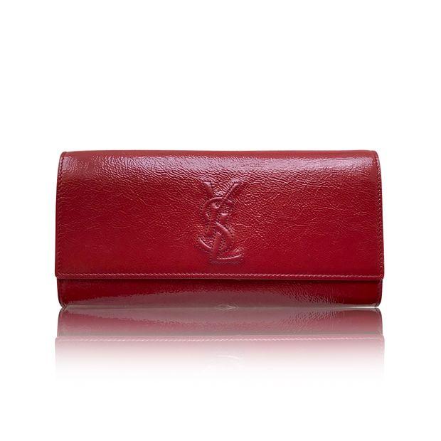6299e9eea448 SAINT LAURENT Saint Laurent Belle De Jour Red Patent Leather Clutch ...