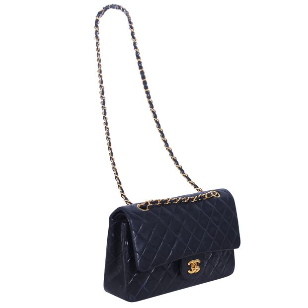 5590ae7f2464 CHANEL Vintage Small Black Quilted Classic Flap Bag 1 thumbnail