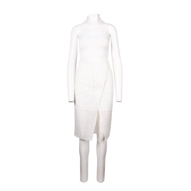 fa739975a White Broderie Anglaise Skirt by STELLA MCCARTNEY   StyleTribute.com