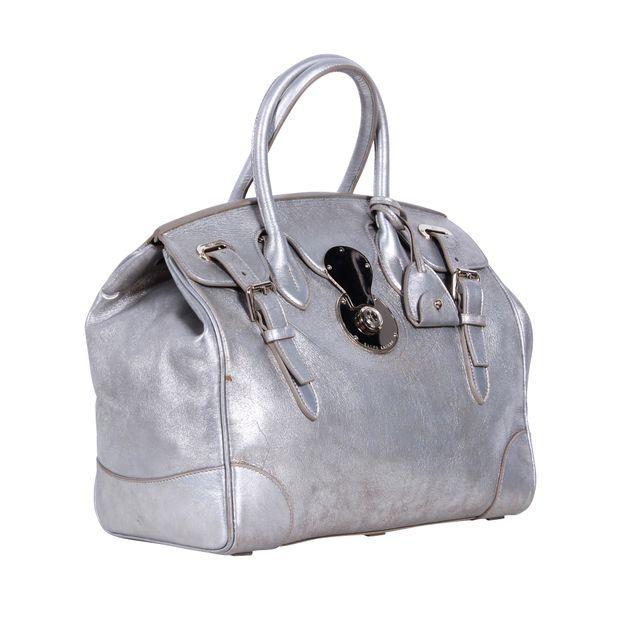4fac3a8d58 RALPH LAUREN Silver Leather Ricky Handbag 1 thumbnail