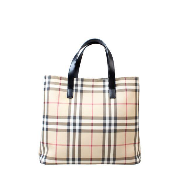 6eb10d0910 Nova Check Small Tote Bag by BURBERRY | StyleTribute.com