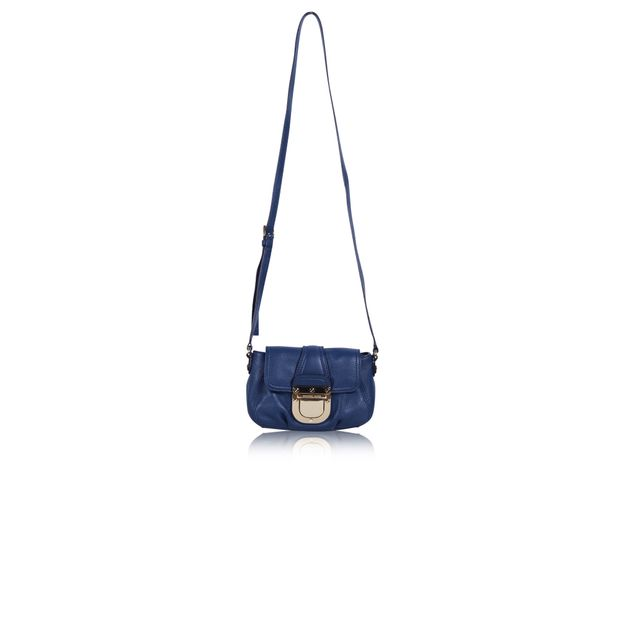 e4e45feaab70 Blue Leather Crossbody by MICHAEL KORS | StyleTribute.com
