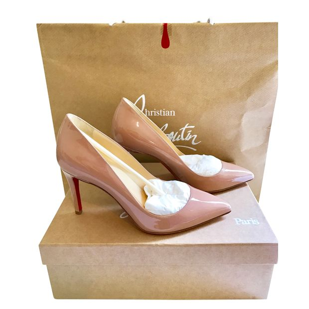 ec5f90b8b9 Pigalle 85mm Nude Patent by CHRISTIAN LOUBOUTIN | StyleTribute.com