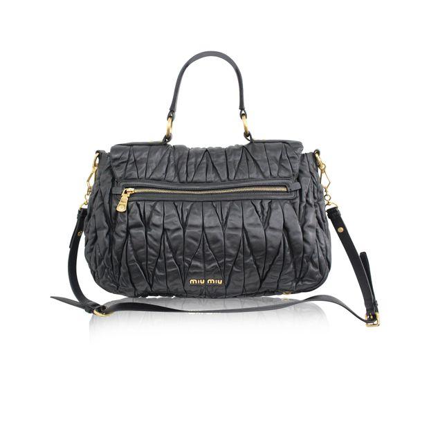 8cd59128e2f MIU MIU Matelasse Black Leather Bag 2 thumbnail