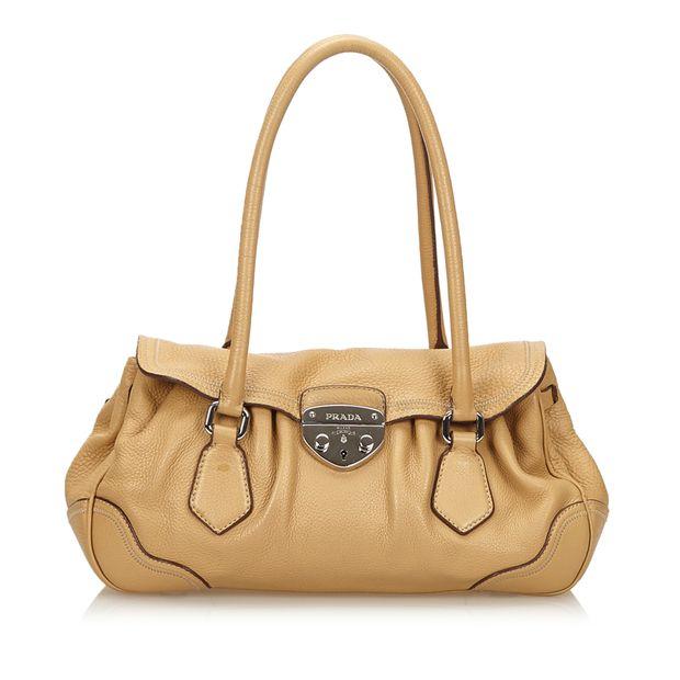 f6f53ea0b426 Leather Shoulder Bag by PRADA