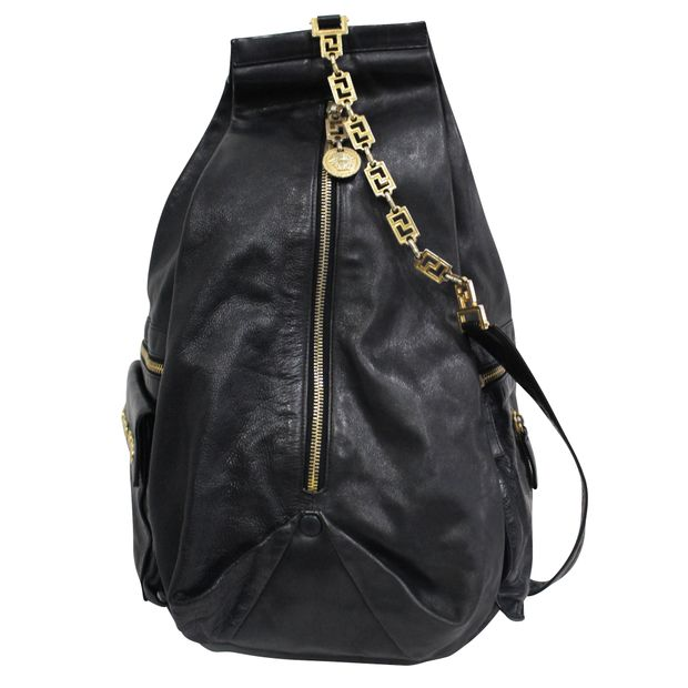 2493c9dc13 VERSACE Single Sling Gold Chain Backpack VERSACE Single Sling Gold Chain  Backpack zoomed