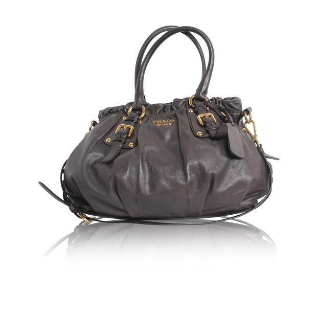 02bc51aee2f9 PRADA Prada Medium size of brown shoulder bag 0 thumbnail