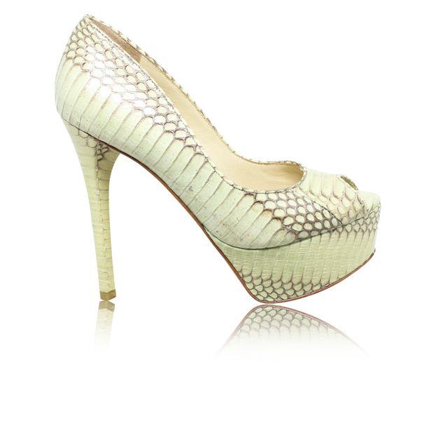 57aa421a6ef Anise Green Peep Toe Pumps