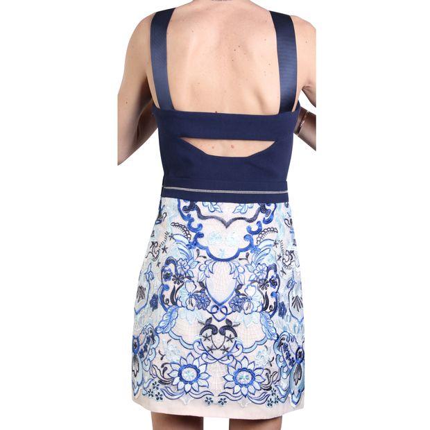 378111f53b23d SELF-PORTRAIT Blue Lace Mini Dress from Three Floor 2 thumbnail