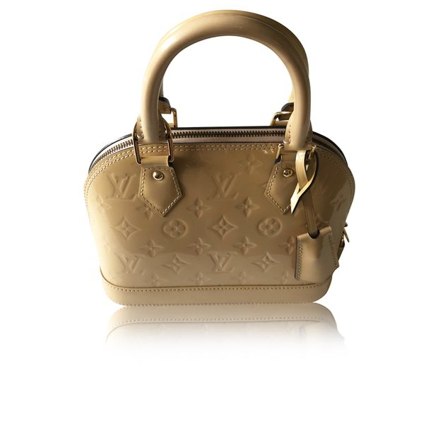 10594cf604fe Cream Monogram Vernis Alma BB Bag by LOUIS VUITTON