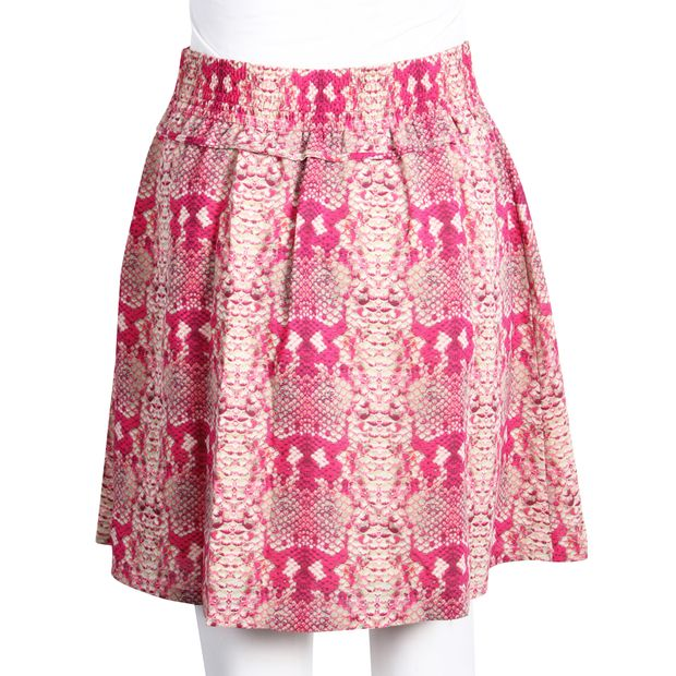 7c86b6525e Pink Snake Print Mini Skirt by MARC BY MARC JACOBS | StyleTribute.com