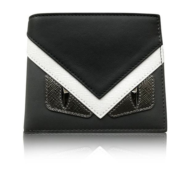 1621ad4a56 Fendi Monster Eye 8cc Bifold Wallet