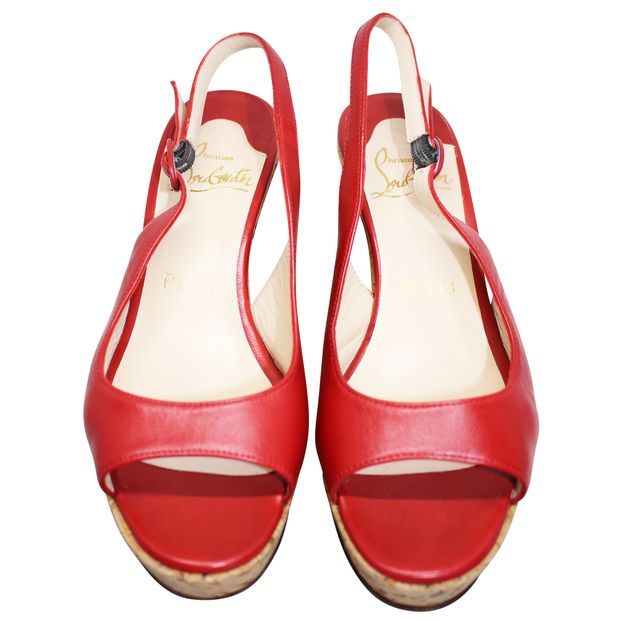 the latest 7bf24 4e31f Red Leather Wedges