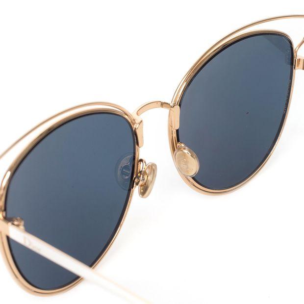 4ab3fc8cbe2 DIOR  Wildly Dior  Gold Frame Sunglasses 3 thumbnail