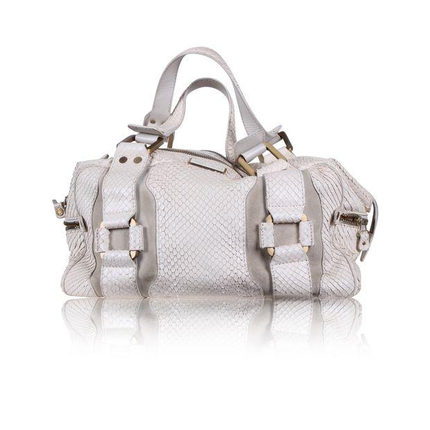 2612a97793f Madhi Snakeskin Handbag by JIMMY CHOO   StyleTribute.com