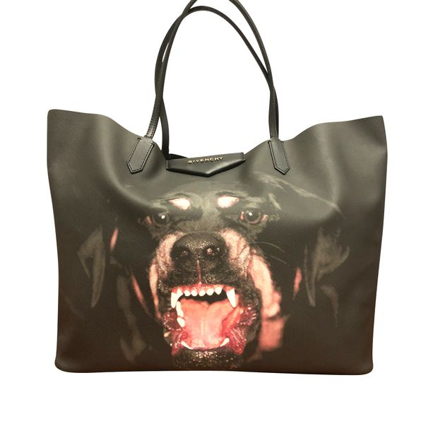 befa360b96b Large Shopper Tote With Rottweiler Print by GIVENCHY | StyleTribute.com
