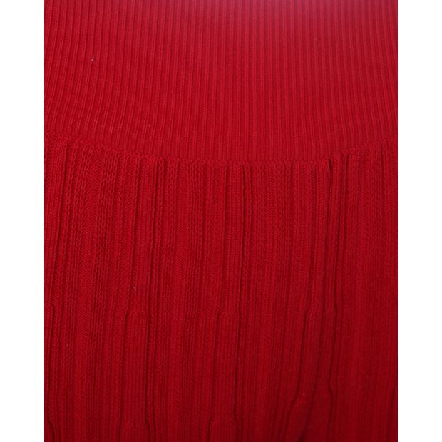091c6f4491a Red Pleated Wide-leg Pants by SONIA RYKIEL | StyleTribute.com