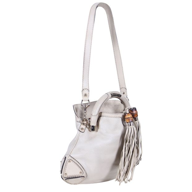 645b65e88b0 Ivory Indy Bamboo Tassel Hobo Bag by GUCCI