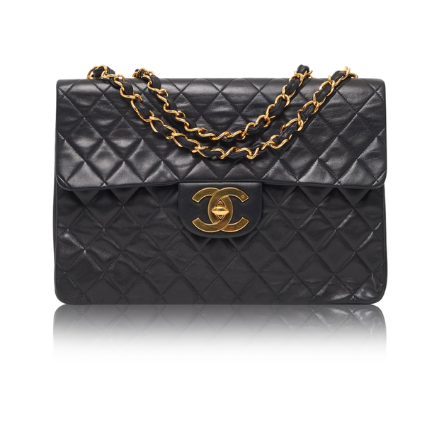 91398bfb95b1 Vintage jumbo XL classic flap bag by CHANEL | StyleTribute.com
