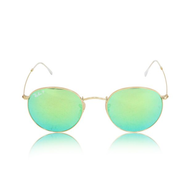 e0883da69c5 Round Folding Green Gradient Lenses by RAY-BAN