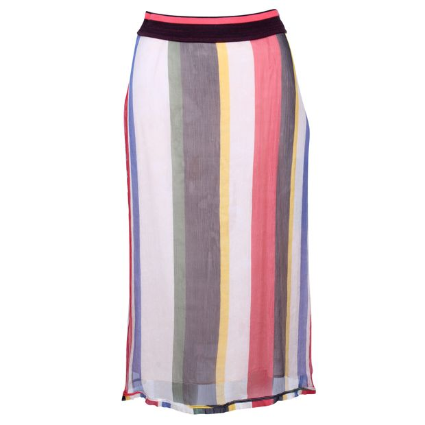 c9f1d4491 Striped Crepon Midi Skirt by MARNI | StyleTribute.com